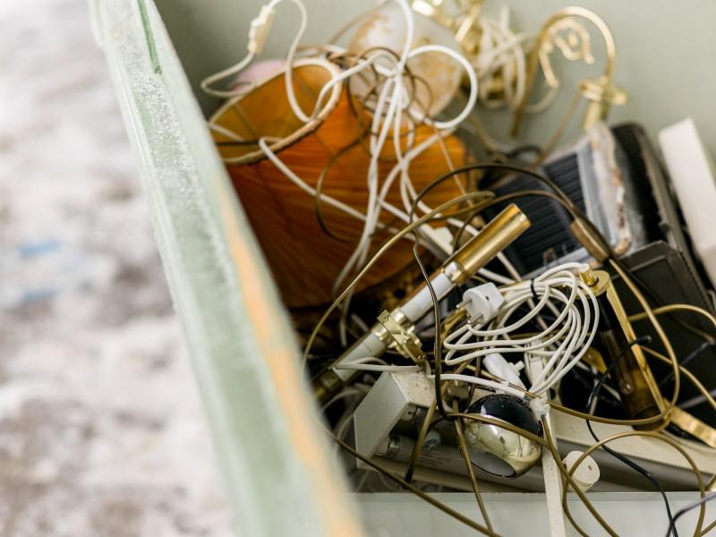 Bilde av elektrisk og elektronisk avfall. Foto: Terje Borud for LOOP