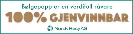 Norsk Resy - 100% gjenvinning av bølgepapp