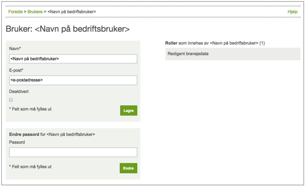 Redigering av brukere i admin